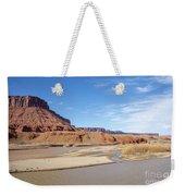 View At Sorrel River Ranch On The Colorado River Near Moab, Utah Weekender Tote Bag