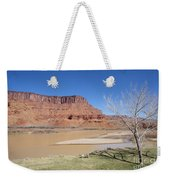 View From A Cabin At Sorrel River Ranch On The Colorado River Ne Weekender Tote Bag