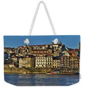 View Of Porto And Douro River Weekender Tote Bag