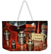 Vintage Apothecary Pharmacist Weights And Scale Weekender Tote Bag