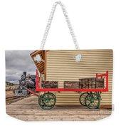 Vintage Baggage Cart Weekender Tote Bag