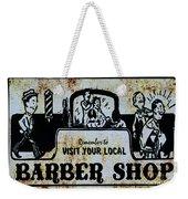 Vintage Barber Sign From The 1950s Weekender Tote Bag
