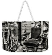 Vintage Dentist Office And Drill Black And White Weekender Tote Bag