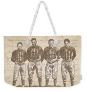 Vintage Football Heroes Weekender Tote Bag by Clint Hansen