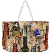 Vintage Glass Bottles Collage Weekender Tote Bag