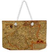 Vintage Map Of Belgium And Flanders Weekender Tote Bag