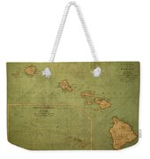 Vintage Map Of Hawaii Weekender Tote Bag