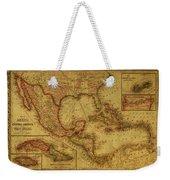Vintage Map Of Mexico Weekender Tote Bag