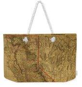 Vintage Map Of Northern California Weekender Tote Bag