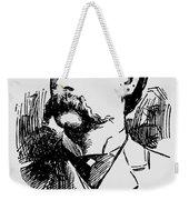 Vintage Newspaper Wyatt Earp Portrait 1896 - T-shirt Weekender Tote Bag