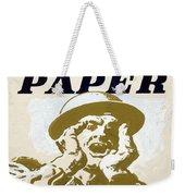 Vintage Poster - I Need Your Waste Paper Weekender Tote Bag