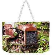 Vintage Rusted Tractor Weekender Tote Bag