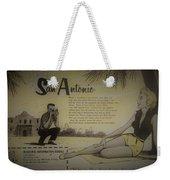 Vintage San Antonio Advertisement Weekender Tote Bag