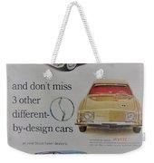 Vintage Studebaker Advertisement Weekender Tote Bag