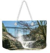 Vintage Train Trestle With Waterfalls Weekender Tote Bag