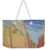Vintage Zion Travel Poster Weekender Tote Bag