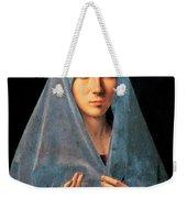 Virgin Of Annunciation Painting By Antonello Di Antonio Dit Antonello Da Messina Weekender Tote Bag