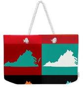 Virginia Pop Art Map Weekender Tote Bag