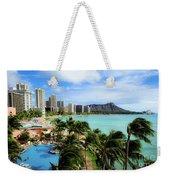 Waikiki Beach - Diamond Head Crater  Weekender Tote Bag