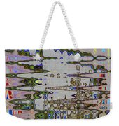 Waiting For The Barge At Aberdeen Abstract Weekender Tote Bag