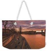 Walking Along The Seine At Sunset Weekender Tote Bag