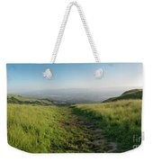 Walking Downhill Large Trail With Silicon Valley At The End Weekender Tote Bag