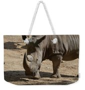 Walking Rhino With One Large Horn And One Small Horn Weekender Tote Bag