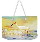 Walking The Waves Of Sanibel Weekender Tote Bag