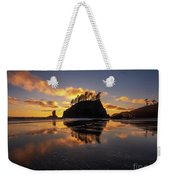 Washington Coast Weeping Lady Sunset Cloudscape Weekender Tote Bag