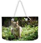 Watchful Mama Lynx Weekender Tote Bag by Tim Newton