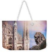 Watching Over The Duomo Milan Italy  Weekender Tote Bag