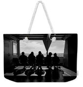 Watching The World  Weekender Tote Bag by Mary Lee Dereske