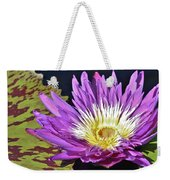 Water Lily On The Pond Weekender Tote Bag