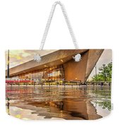 Water Reflection Central Station Rotterdam Weekender Tote Bag