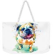 Watercolor Bulldog Weekender Tote Bag
