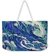Watercolor - Ocean Wave Design Weekender Tote Bag
