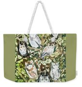 Watercolor - Screech Owl And Forest Design Weekender Tote Bag