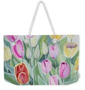 Watercolor - Spring Tulips Weekender Tote Bag