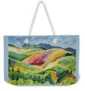 Watercolor - Wilson Mesa Landscape Impression Weekender Tote Bag