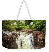 Waterfall Under The Mountain Weekender Tote Bag