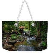 Waterfall With Wooden Bridge Weekender Tote Bag