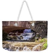 Waterfalls Through Stone Bridge Weekender Tote Bag
