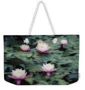 Waterlily Impressions Weekender Tote Bag