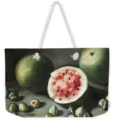 Watermelons And Figs On A Stone Ledge  Weekender Tote Bag