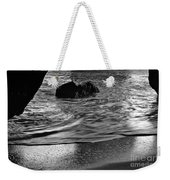 Waves From The Cave In Monochrome Weekender Tote Bag