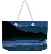 Waves In The Pacific Ocean, Waimea Bay Weekender Tote Bag