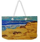 Waves On A Rocky Beach Weekender Tote Bag