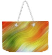 Wavy Colorful Abstract #4 - Yellow Green Orange Weekender Tote Bag by Patti Deters