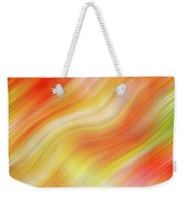 Wavy Colorful Abstract #5 - Yellow Orange Weekender Tote Bag by Patti Deters