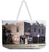 Wayne Grocery Weekender Tote Bag by Juan Contreras